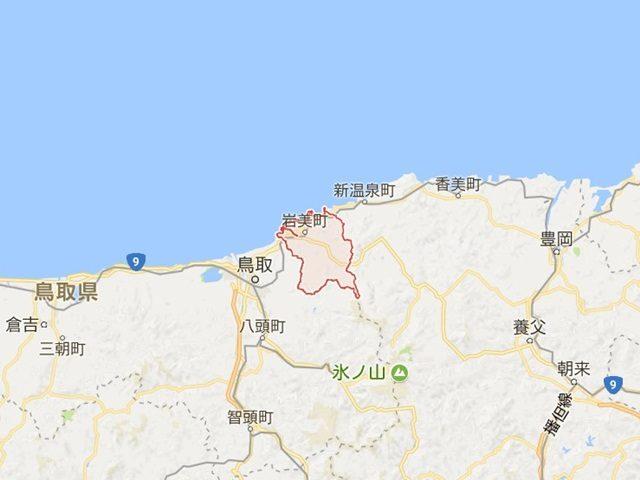 鳥取県岩美町の地図